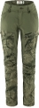 Keb Trousers Curved W Short, kolor: 626-625 - Green Camo-Laurel Green