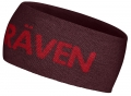 opaska Logo Headband, kolor: 356/325 Dark Garnet/Deep Red.